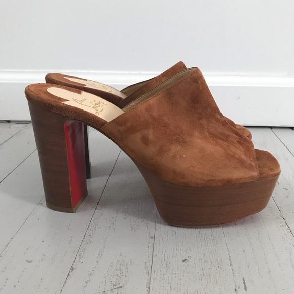 8b44b7a955b New Christian Louboutin platform mule sandals 70s
